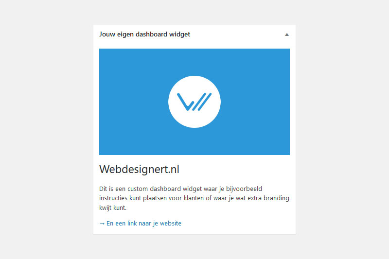 Wordpress dashboard aanpassen